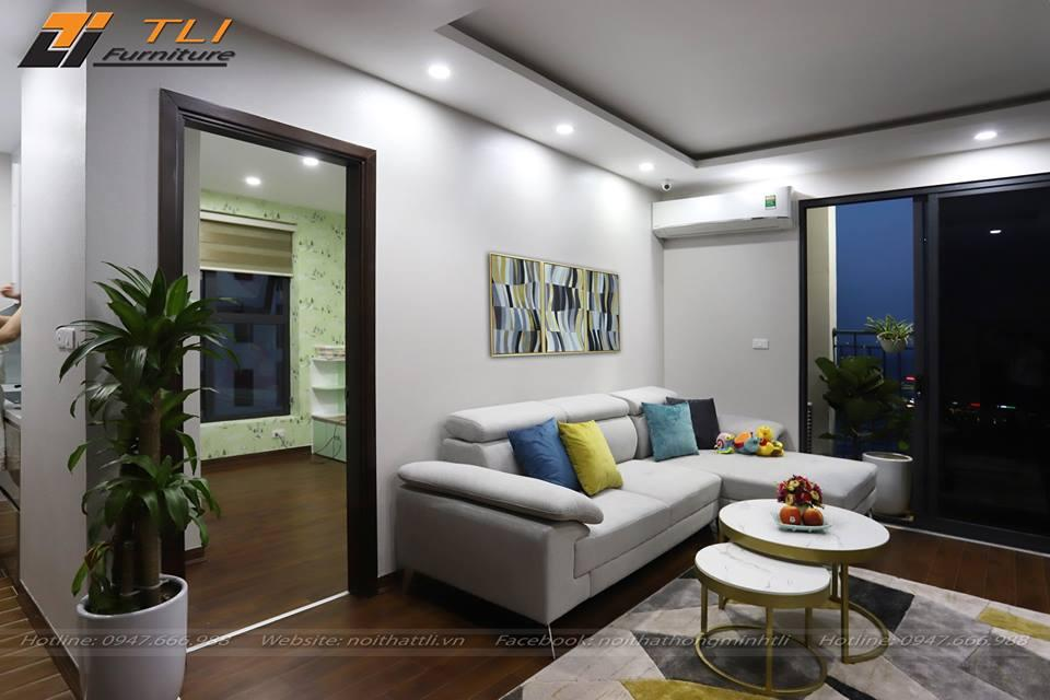 Ghế sofa gia đình chị Huyền- An Bình City